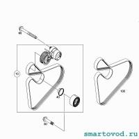 Паразитный ролик приводного ремня Smart 453 ForTwo / ForFour 2014 ->