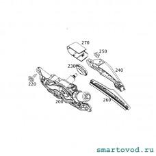 Поводок стеклоочистителя заднего Smart 453 ForTwo 2014 ->