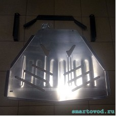 Защита алюминиевая картера двигателя и КПП Smart 453 ForTwo / ForFour 2014 ->