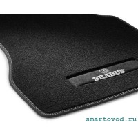 Коврики велюровые передние Brabus Smart 453 ForTwo / ForFour 2014 ->