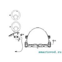 Декоративное кольцо БЕЛОЕ дополнительных приборов в кокпите SMART 453 FORTWO / FORFOUR
