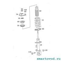 Демпфер / прокладка пружины резиновая верхняя передней подвески Smart 454 ForFour 2004 - 2006