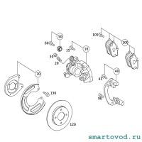 Колодки тормозные задние дисковые Smart 454 ForFour 2004 - 2006