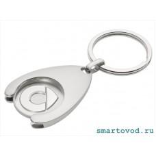Брелок с жетоном для тележек Smart LOGO / keyring shopping cart chip