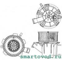 Вентилятор обдува печки Smart 451 ForTwo 2007 - 2014