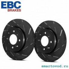 Диски тормозные передние с насечками EBC Ultimax USR 453 ForTwo / ForFour 2014 - >