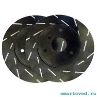 Диски тормозные передние с насечками EBC Ultimax USR brake Discs Smart 450 / 451 ForTwo / 452 Roadster 1998 - 2014