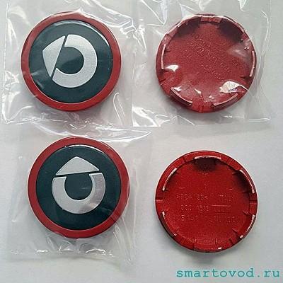 Колпачок / заглушка диска легкосплавного Красная Smart 1998 - 2014