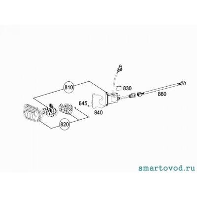 Кронштейн левый для установки блока DRL Smart ForTwo