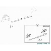 Накладка порога задняя правая Smart Roadster