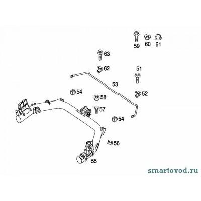 Балка с центральным сайлентблоком задней подвески Smart ForTwo 98-07