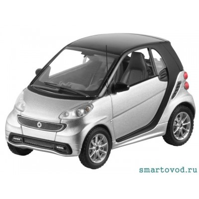 Smart ForTwo Купе SILVER 2012 1:43