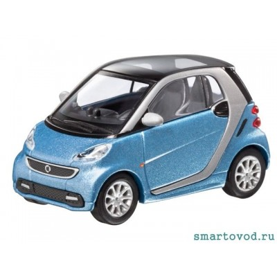 Smart ForTwo Купе pale blue 2012 1:87
