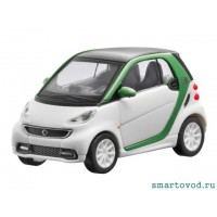 Smart ForTwo Купе White / Green 2012 1:87