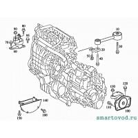 Опора / подушка двигателя, правая Smart ForFour 1.3 / 1.5 L бензин