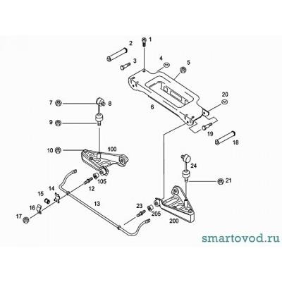 Подрамник - поперечина передней подвески Smart Roadster