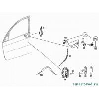 Тросик ручки внутренней передней двери Smart ForFour