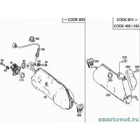 Труба промежуточная глушителя Smart ForTwo 2007>