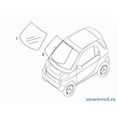 Стекло лобовое Smart ForTwo 98-07