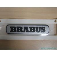 Шильдик / логотип / наклейка BRABUS на крышку багажника Smart 451 ForTwo 2007 - 2014