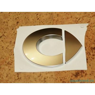 Объемный стикер лого хром SMART ForTwo 98-07