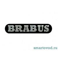 Шильдик / логотип / наклейка BRABUS на боковины зеркал Smart ForTwo / ForFour