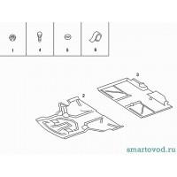 Защита / пыльник днища, передняя часть Smart 452 Roadster