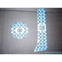 Накладки на педали алюминий серые Smart ForTwo 2007->