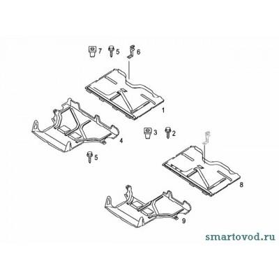 Защита днища передняя Smart ForTwo 98-02