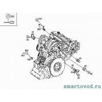 Разъем датчика давления масла в двигателе Smart 451 ForTwo 2007 - 2014