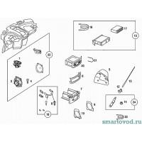 Основание антенны для радиоприемника Smart Roadster