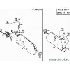 Прокладка приемной трубы глушителя Smart ForTwo 2012-14