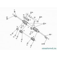 Амортизатор / Демпфер рулевого управления Smart ForTwo 98-07