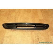 Решетка передняя черная без отверстий для ПТФ Smart 450 ForTwo 1998 - 2002 (оригинал)