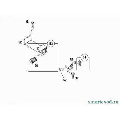 Крышка воздухозаборника двигателя Smart ForTwo 98-07