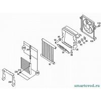 Вентилятор радиатора охлаждения Smart ForTwo 98-03