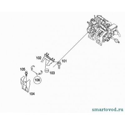 Клипса (пистон) крепления воздухозаборника интеркулера Smart ForTwo / Roadster 98-07