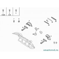 Фонарь (плафон) подсветки номерного знака Smart Roadster