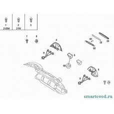 Фонарь (плафон) подсветки номерного знака Smart 452 Roadster