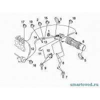 Прокладка воздуховода турбины Smart ForTwo / Roadster 98-07