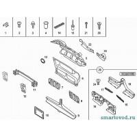 Заглушка отверстия буксировочного крюка ЧЕРНАЯ Smart 452 Roadster