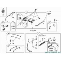Детали / крепеж каркаса мягкой крыши Smart 452 Roadster 2003 - 2005