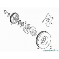 Шестерня коленвала бензинового двигателя Smart ForTwo / Roadster 98-07