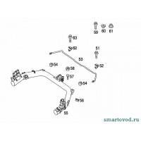 Кронштейн / крепеж втулки заднего стабилизатора Smart ForTwo 98-07