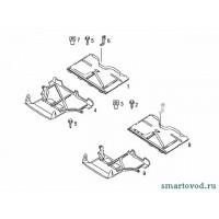 Защита днища задняя smart ForTwo 98-01 CDI