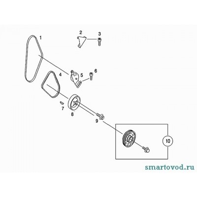 Ремень генератора Smart ForTwo / Roadster 98-07