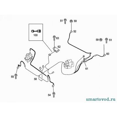Датчик поперечного ускорения Smart ForTwo 98-07