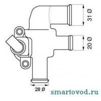 Термостат Smart ForTwo CDI 98-07