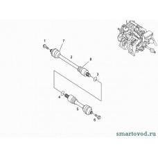 Болт центральный задней ступицы Smart ForTwo / Roadster 98-07