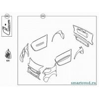 Крепеж, набор для замены панелей Smart ForTwo 2007->